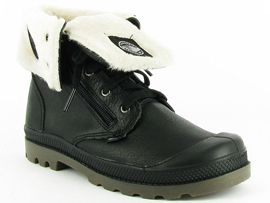 PALLADIUM BAGGY LEATHER JR<br>Noir