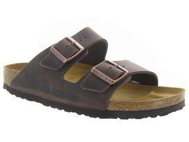 BIRKENSTOCK ARIZONA OILED LEATHER<br>Marron