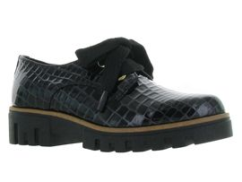 FOX DERBY GLOSS 4390 EQ:Croco/Noir/Noir