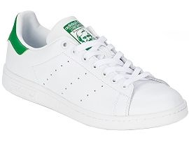 GILMAN PLAIN STAN SMITH JUNIOR:Cuir lisse/Blanc/Blanc