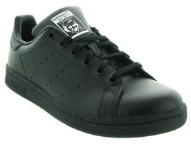 SO ROCK STAN SMITH JUNIOR:Cuir lisse/Noir/Noir