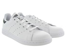 989 STAN SMITH JUNIOR:Cuir lisse/Noir/Noir