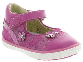 COCOON GIRL VELCRO FOURRE MINI ABY:Cuir lisse/Rose/Fushia