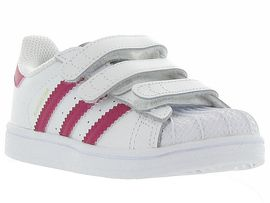 CA1JVB ALLINGTON SUPERSTAR CF I GIRL:Cuir lisse/Blanc/Blanc