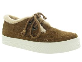 MALOUINE SONAR INDIAN:Nubuck/Marron/Gold