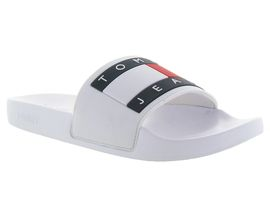 TOMMY HILFIGER FLAG POOL SLIDE<br>Blanc