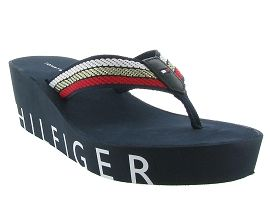 BLAKE ICONIC WEDGE BEACH SANDAL:Synthétique/Bleu/Marine