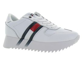 TOMMY HILFIGER HIGH CLEATED CORP SNK<br>Blanc