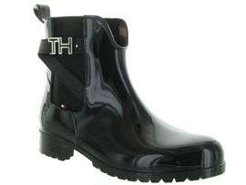 SO ROCK RUBBER BOOTIE:Caoutchouc/Noir/Noir
