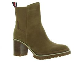 TOMMY HILFIGER SPORTY MID HEEL<br>Taupe