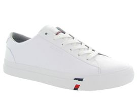 619P7 CORPORATE LEATHER SNK:Cuir lisse/Blanc/Blanc