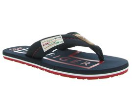 TOMMY HILFIGER BADGE BEACH SANDAL<br>Marine
