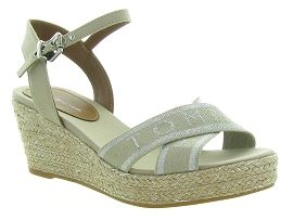 TOMMY HILFIGER METALLIC MID WEDGE<br>Taupe
