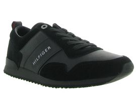 TOMMY HILFIGER ICONIC LEATHER SUEDE<br>Noir