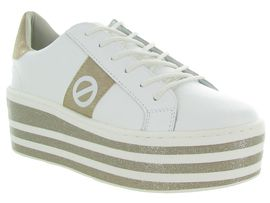 A2G6G DAVIS SQUARE BOOST SNEAKERS:Cuir lisse/Blanc/Blanc