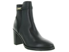 BARTH BLOCK BRANDING HIGH BOOT:Cuir lisse/Noir/Noir