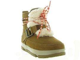 MOON BOOT SHEARLING WEATHER HIKER:Nubuck/Marron/Gold
