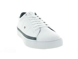 TOMMY HILFIGER ESSENTIAL LEATHER SNK<br>Blanc