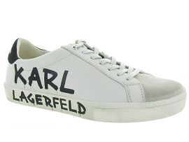 KARL LAGERFELD SKOOL BRUSH LOGO LO BOOT<br>Blanc