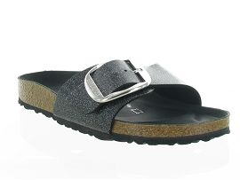 TERIYAKI MADRID BIG BUCKLE GLITTER:Synthétique/Gris/Anthracite