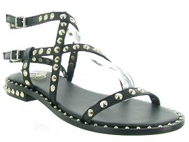 MADRID BIG BUCKLE PETRA:Cuir lisse/Noir/Noir