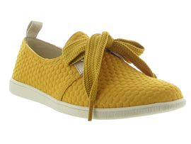BASKET SUEDE HEART SATIN STONE ONE SWEET:Toile/Jaune/Jaune