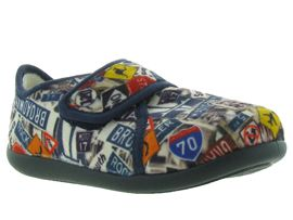 30720 ISAQ KOSTO:Velours/Multicolor/Tricolore