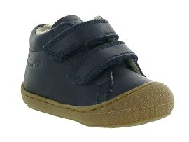 OOPS DUCK COCOON BOY VELCRO FOURRE:Cuir lisse/Bleu/Marine
