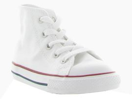 ESSENTIAL STRIPES DETAIL SNK CTAS HI KIDS:Toile/Blanc/Blanc