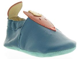 1950B POKEY PINE 6IN BOOT RENARD:Cuir lisse/Bleu/Bleu royal