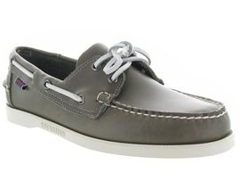 DOCKSIDES PORTLAND WAXED<br>Cuir lisse Gris Gris