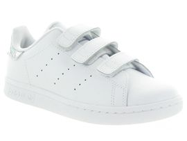 4235ES STAN SMITH VELCRO:Synthétique/Gris/Argent