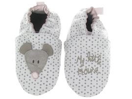 DROPO LITTLE MOUSE:Cuir lisse/Beige/Ecru