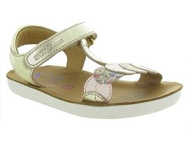 GOA DOTS<br>Cuir laminé Beige Or