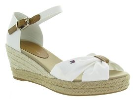 TOMMY HILFIGER TOE MID WEDGE<br>Blanc