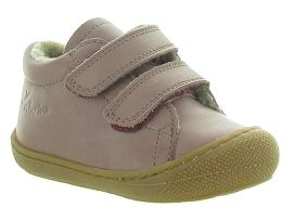 CA1HLS ALLINGTON COCOON GIRL VELCRO FOURRE:Cuir lisse/Rose/Rose