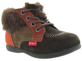 KICKERS BABYFROST BOY<br>Marron fonçé
