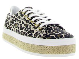 ICONIC TOMMY BOOT MALIBU SNEAKER:Toile/Divers/Leopard