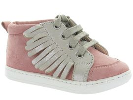 SO FINE PE17 BOUBA LACE FRINGE:Nubuck/Rose/Rose