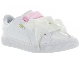PUMA HEART BASKET PATENT JR<br>Blanc