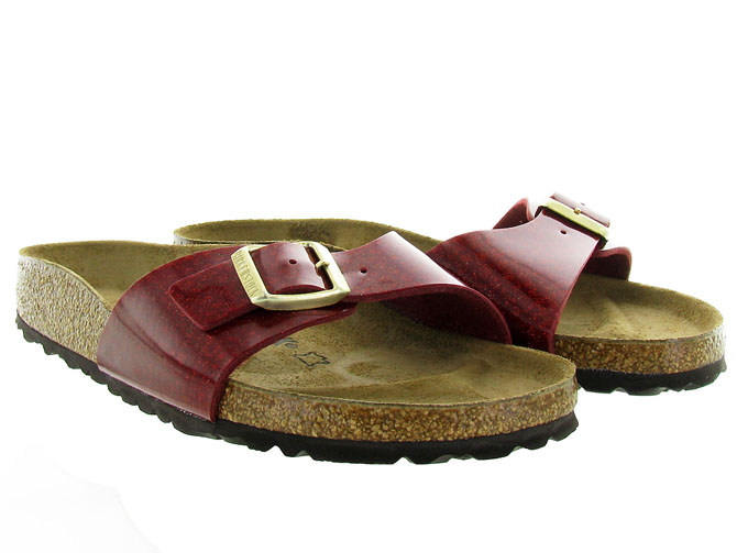 Birkenstock nu pieds madrid magic snake bordeaux