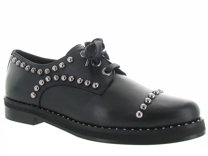 Angelo bervicato chaussures a lacets b3025 noir