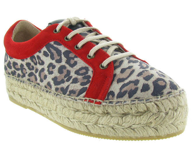 Gaimo chaussures a lacets dania leopard