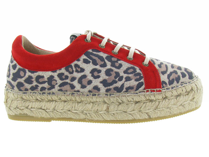 Gaimo chaussures a lacets dania leopard3225401_2