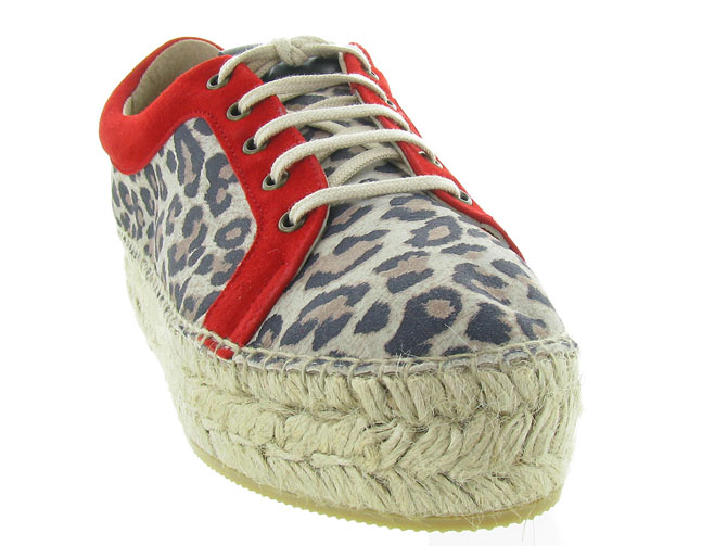 Gaimo chaussures a lacets dania leopard3225401_3