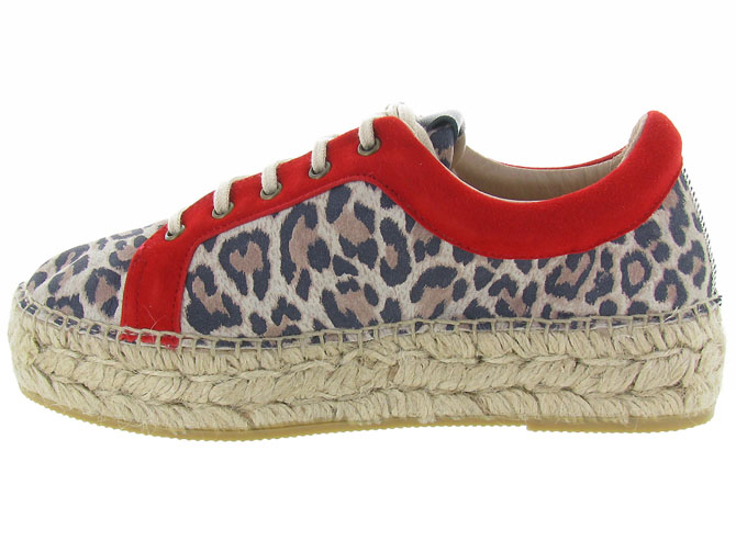 Gaimo chaussures a lacets dania leopard3225401_4