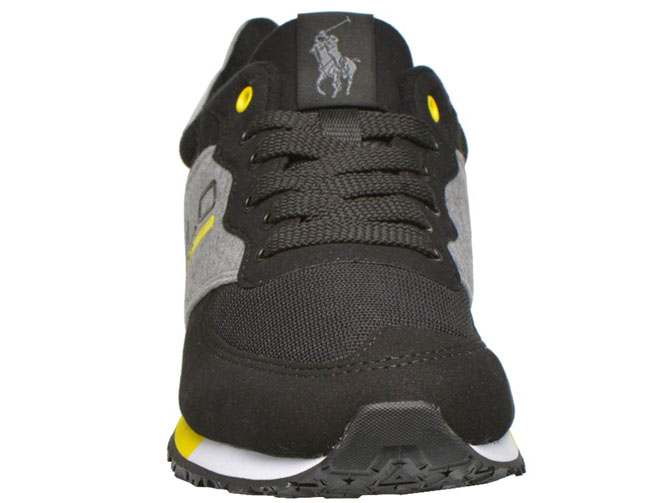 Ralph lauren baskets et sneakers slaton polo anthracite4179501_3
