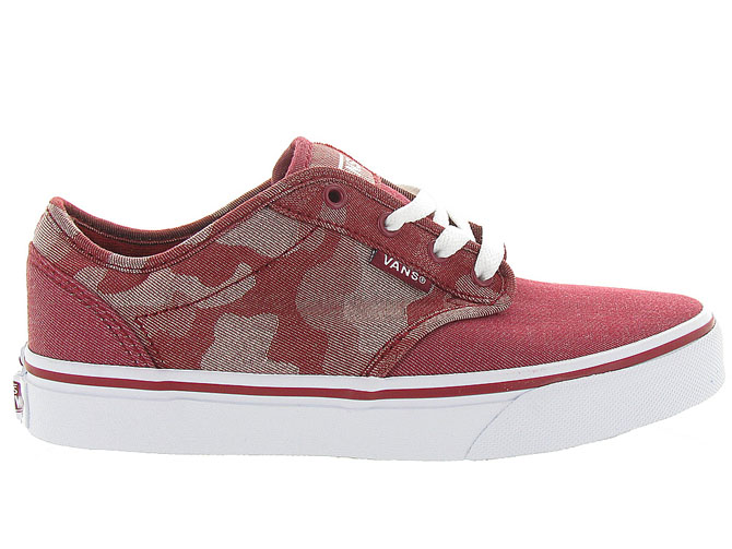Vans baskets et sneakers atwood y camo rouge4242701_2