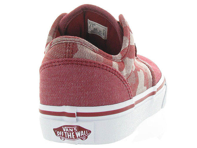 Vans baskets et sneakers atwood y camo rouge4242701_5