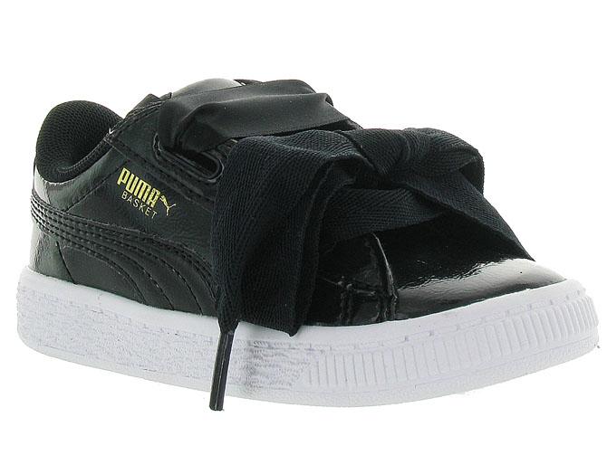Puma baskets et sneakers heart basket baby noir